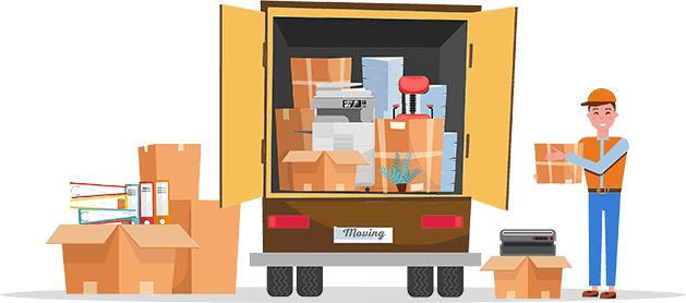 Removal Truck with Office Furniture